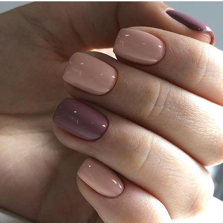 два цвета на ногтях
