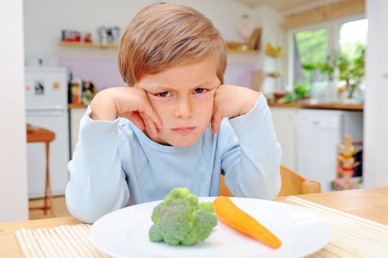 Что делать, если ребенок не хочет есть овощи