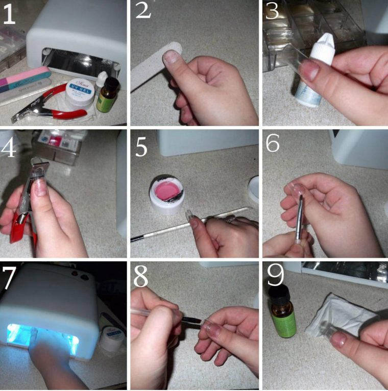 Какой гель для наращивания ногтей в домашних условиях 416