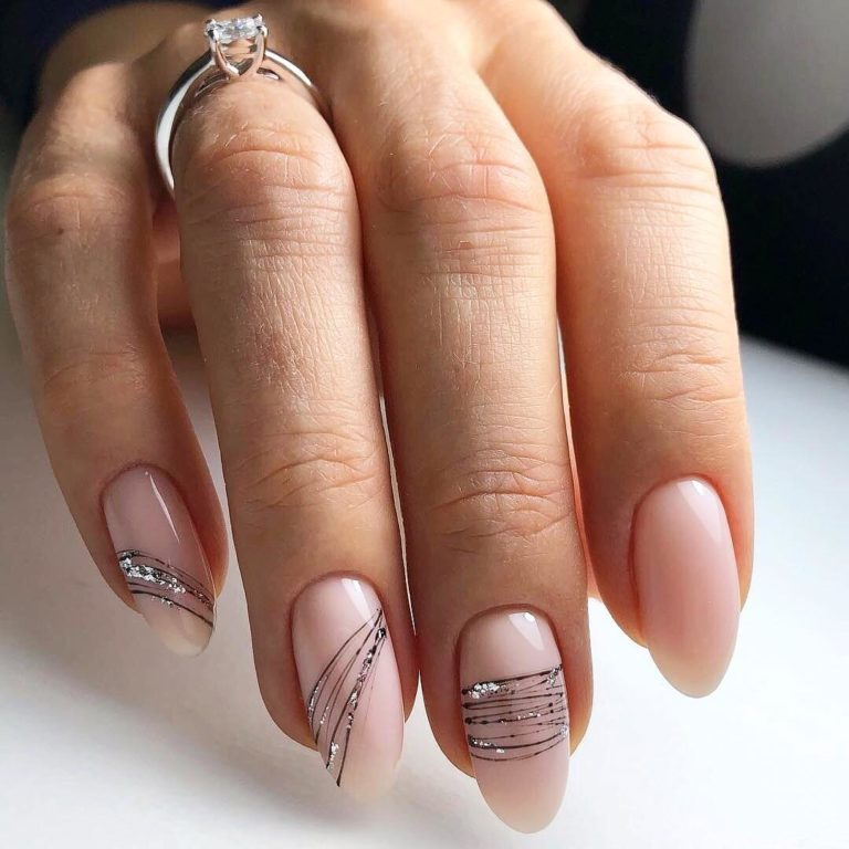 Идеи маникюра нежного на длинные ногти