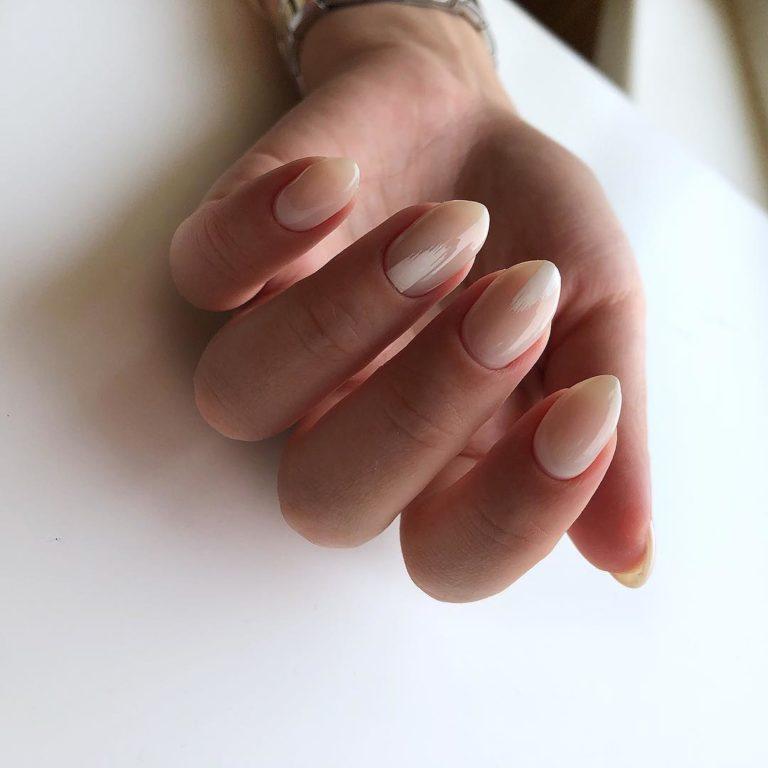 Ультрамодный нюдовый маникюр: 70 идей «голого» дизайна ногтей