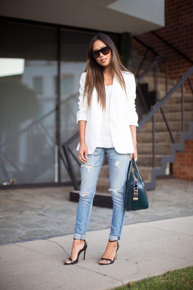 босоножки и джинсы