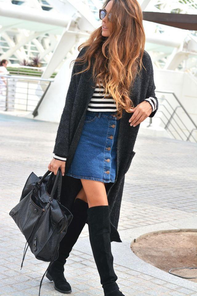Юбка и пальто