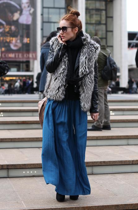 Джинсовая юбка макси