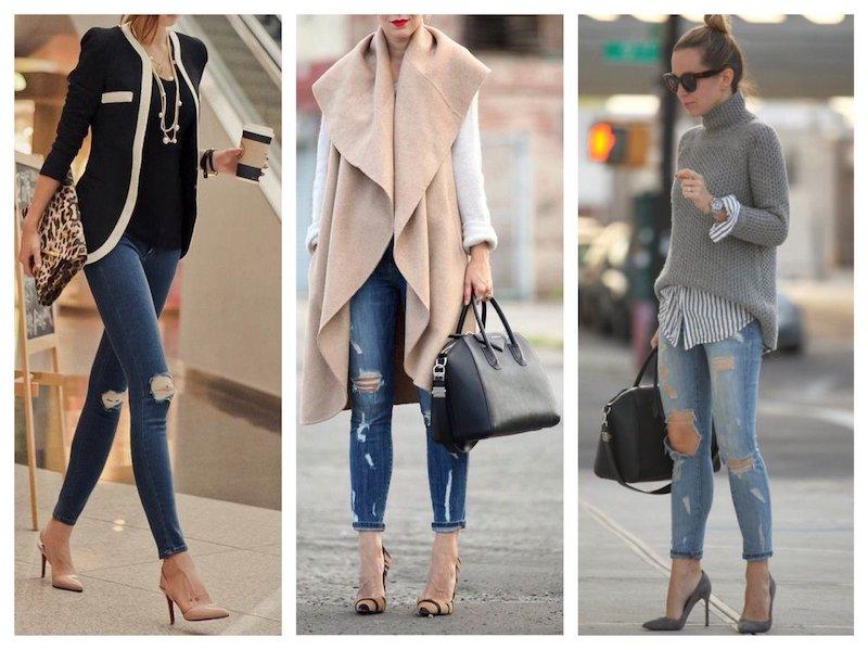 Как быть стильной в туфлях и джинсах