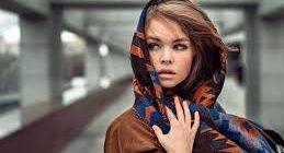Как повязать павлопосадский платок на голову зимой